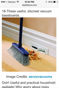 Vaccuum baseboards!