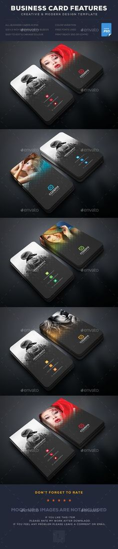 Buy Photography Business Card by UXcred on GraphicRiver. FEATURES: Easy customizable and editable Business card in with bleed CMYK Color Design in 300 DPI resolut. Business Card Maker, Business Card Psd, Unique Business Cards, Business Card Design, Business Names, Business Ideas, Graphisches Design, Game Design, Studio Design
