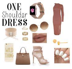 """On shoulder dress"" by rainn1233 on Polyvore featuring Topshop, Monowear, Dolce&Gabbana, Victoria Beckham, Sonix, Gorjana and Miss Selfridge"