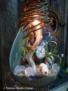 Timepiece terrarium - This was an awesome garden in our Container Exhibition by Cultivar LLC.