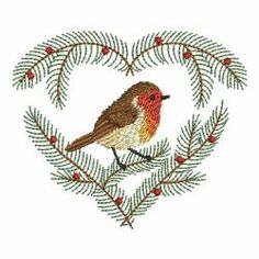 Christmas Robin 05(Sm) machine embroidery designs