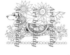 Art of Dachshund Coloring Book by ArtByEddy on Etsy