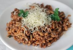 """Orzó """"rizottó""""   NOSALTY Grains, Chicken, Meat, Ethnic Recipes, Food, Red Peppers, Essen, Meals, Seeds"""