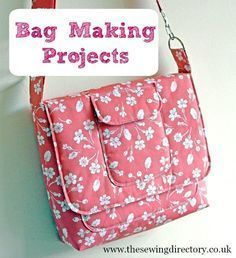 Bag making for beginners. A new bag making technique series from Sew Christine. Messenger Bag Patterns, Mini Messenger Bag, Bag Patterns To Sew, Sewing Patterns Free, Handbag Patterns, Backpack Pattern, Free Sewing, Free Pattern, Crochet Patterns