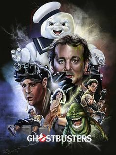 I was recently commissioned to create an alternative film poster for the classic movie, Ghostbusters. I wanted to combine the satire of the cast with the flashy, electrifying feel of the film. Poster Retro, Poster Print, Movie Poster Art, Fan Poster, Poster Series, 80s Movies, Horror Movies, Good Movies, Ghostbusters Film