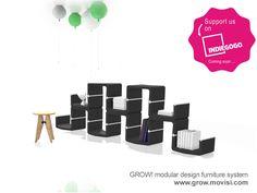 Modular design furniture GROW. Limited pre-order offers - register now.