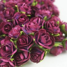 Mini paper roses.