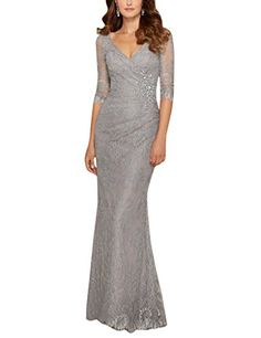 909c59ee1ec Vienna Bride Captivating Lace V-Neck Mother of the Bride Dress with Half.  Janette Courtney · Dresses