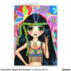 Shop Psychedelic Hippie Girl Headband Peace Sign Square Sticker created by Blonde_Blythe. Hippie Peace, Hippie Love, Hippie Chick, Hippie Art, Hippie Girl Tattoos, Abstract Face Art, Estilo Hippie, Hippie Vibes, Celtic Tattoos