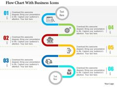 Flow Chart With Business Icons Flat Point Design