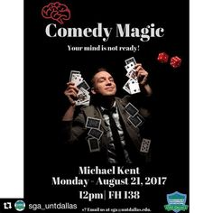 #Repost @sga_untdallas  A combination of stand up comedy and magic all in one! Get ready for laughter and amazement! #magic #magician #comedymagic #entertainment #eventprofs