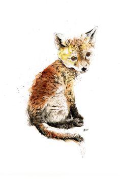 Foxiness on Illustration Served Project Life Karten, Fuchs Baby, Fuchs Tattoo, Fantastic Fox, Fox Spirit, Fox Art, Woodland Creatures, Illustration Sketches, Watercolor Animals