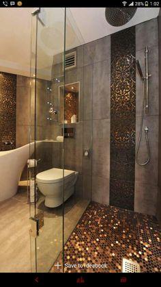 Shiny Gloden Wall & floor tiles.