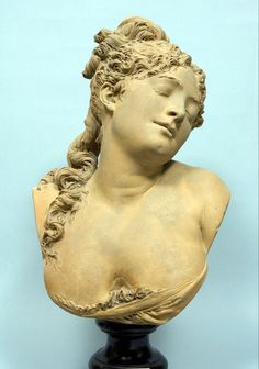 The Night: Albert Ernest Carrier-Belleuse (1824-1887). Allegory, in tandem with the previous example, Day, depicts a young girl, relaxed and abandoned to sleep with her hair loose partly on the right shoulder,herhead resting on the right side. Height 61cm.
