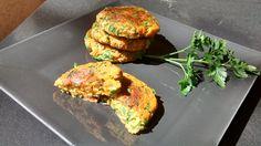 1 petite courgette (170 g) 50 g de carotte rapée 125 g de purée de patate douce 20 g de farine de riz 20 g de chapelure sans gluten