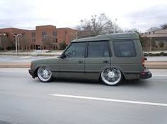 Image result for lowered land rover discovery
