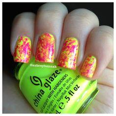 Aubrey Hannah: Neon Saran Wrap Tutorial