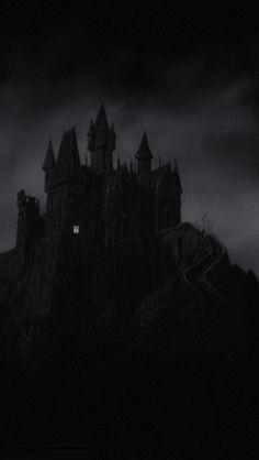 z- Castle w Lighted Room- 'Young Frankenstein', 1974 Dark Gothic, Gothic Art, Dracula, Art Zombie, Dark Castle, Young Frankenstein, Spooky Places, Witch House, Spooky House