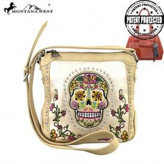 Picture of Montana West Sugar Skull Collection Crossbody Bag