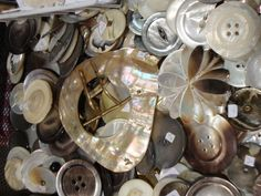 Mother of pearl buttons...at the Vintage Marketplace in Nashville!
