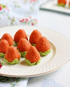 Today I have an exotic sweet for you all that needs zero ghee, looks gorgeous, just 2 main ingredients and very easy to make. Kaju strawberry is ridiculously expensive sweet you get in sweet stalls is very simple to make at home and fun too :)  Recipe @ http://cookclickndevour.com/kaju-strawberry-recipe-how-to-make-kaju-strawberry