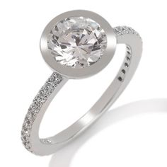 """Jean Dousset 2.39ct Absolute™ Classics """"Solitaire"""" Ring, HSN Sizes 6 to 10"""