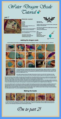 Water dragon scale tutorial part 1 by EruwaedhielElleth.deviantart.com on @deviantART