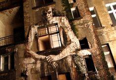 Классическая живопись вместо традиционного граффити. Неожиданный стрит-арт от художника Borondo - МирТесен