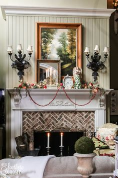Elegant Christmas Home Tour With Lots Of Traditional French Farmhouse Ideas!  #$christmasdecor #frenchchristmas