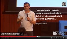 @Gary Vaynerchuk hat recht - he is right abut Twitter as the cocktailparty http://www.youtube.com/watch?v=Y7FVOSA9jIE