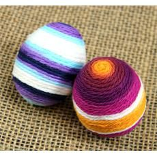 Colorful Yarn Eggs for Easter decor