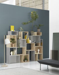 Muuto's popular series of shelving units, Stacked, was born of a desire to combine a unique design style with practicality. The infinitely adaptable storage system that also encourages creativity is the handiwork of architect and designer Julien de Smedt. Modular Shelving, Modular Storage, Vinyl Storage, Shelving Systems, Storage Systems, Shoe Storage Unit, Sweet Home, Wood Shelves, Scandinavian Design