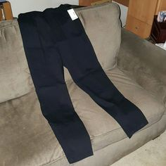 """Catherines Tapered Leg Everyday Pant Black 0X Brand new, never worn Black No pockets All-around elastic waist  Lightweight stretch cotton 98% cotton, 2% spandex 0X 14/16W 29"""" inseam  These pants remind me of a """"nicer"""" alternative to a legging and are an actual pant 2 pairs available   NO TRADES Catherines Pants"""