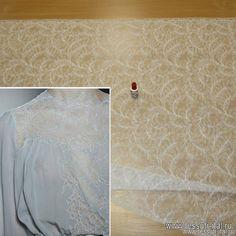 Кружевное полотно (о) белое Solstiss ш-100см - интернет магазин тканей Тессутидея