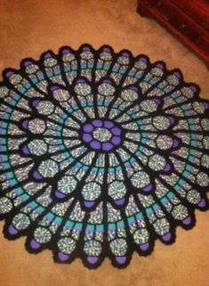 Free Crochet Pattern For Cathedral Window Afghan : Oh, how I want to crochet this afghan! It would look ...