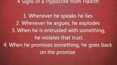 Nouman Ali Khan - Signs of a hypocrite