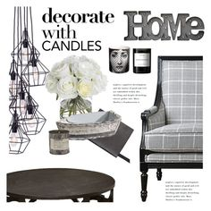 """""""Decorate with Candles"""" by janephoto ❤ liked on Polyvore featuring interior, interiors, interior design, home, home decor, interior decorating, Dot & Bo, Smythson, Diane James and Universal Lighting and Decor"""