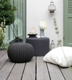 Small furniture for small terrace