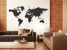 World Map Wall Tattoo- so cool