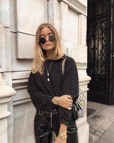 Shoes: Gucci, Pants: Topshop, Hoodie: NLY trend here , Jacket: Condesa, Jewellery: Nuit Et Linette, Cartier, Rolex, Bag: Dolce & Gabbana, Sunglasses: Saint