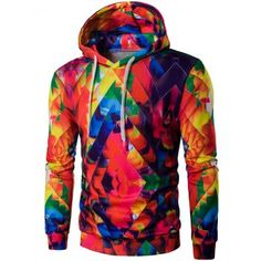 SHARE & Get it FREE | Abstract Printed Colormix Pullover HoodieFor Fashion Lovers only:80,000+ Items·FREE SHIPPING Join Dresslily: Get YOUR $50 NOW!