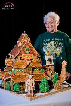 Vikings house - food art