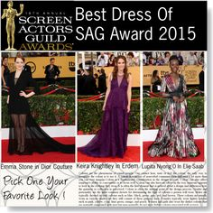 """""""Best Dress at SAG Award 2015"""" by igedesubawa ❤ liked on Polyvore"""
