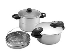 Fagor Futuro 5-Piece Pressure Cooker Set Have used pressure cookers since I was a little girl.  Learned on the old stove top version and used two while raising my family.  They are an amazing time-saver for busy and/or working Moms!