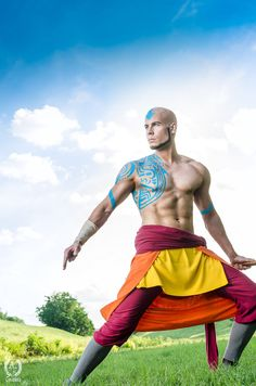 Cosplay Anime Costume Adult Aang - Avatar The Last Airbender Cosplay by Elffi Avatar Cosplay, Anime Cosplay, Epic Cosplay, Amazing Cosplay, Cosplay Outfits, Cosplay Costumes, Male Costumes, 2017 Cosplay, Men Cosplay