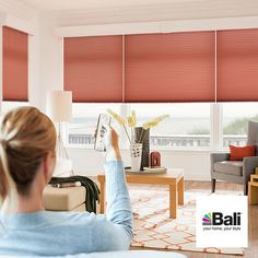 Motorized Blinds and Shades - Adding new custom window treatments means making an investment in your home.  Why not invest in cutting-edge technology? Motorized Bali blinds and shades are easy to install, simple to use, and give you complete, effortless control with the touch of a button.