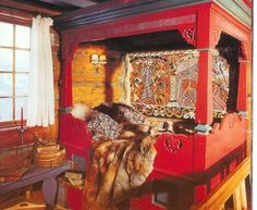 Traditional Slavic bed - image from a Facebook page called: ЛАВКА Образов
