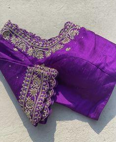 Zardozi Embroidery, Embroidery Suits, Silk Saree Blouse Designs, Blouse Patterns, Fashion Blouses, Women's Fashion, Maggam Work Designs, Maggam Works, Stylish Blouse Design