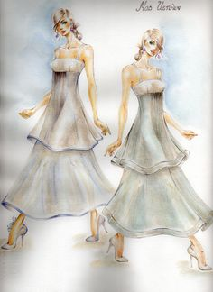Fashion Design Sketches by Anna G.