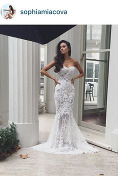 Wow what a beautiful wedding dress by Nektaria. I love the detail.